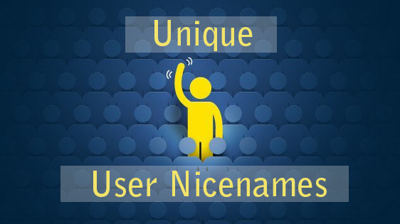 Generate Unique User nicenames